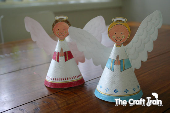 Angel Cone Template Printable paper angel