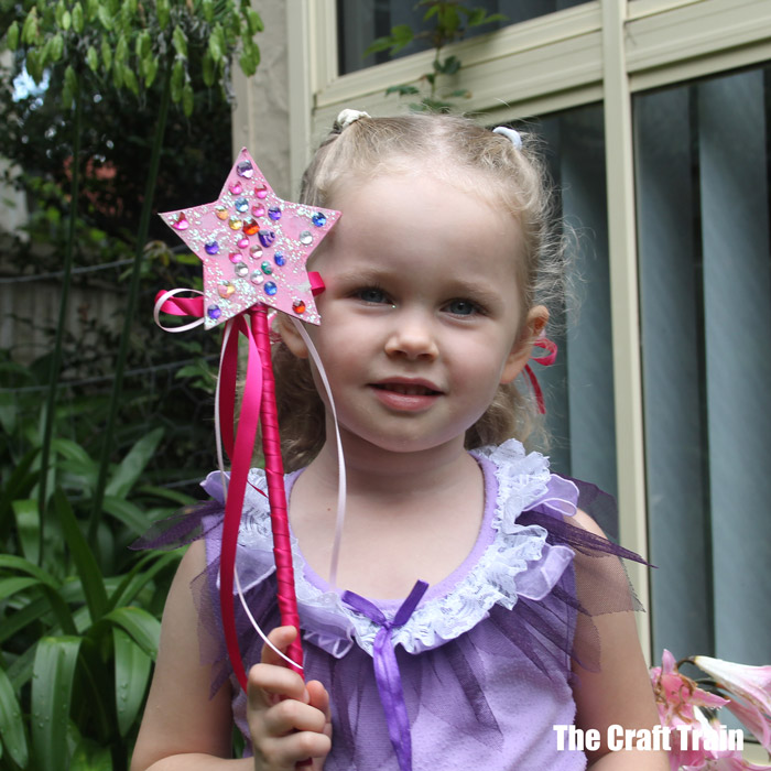 Adorable kid-made magic wand