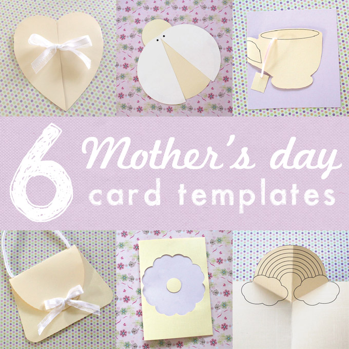6 printable mothers day card templates for kids the craft train