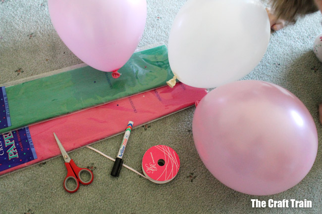 materials needed to make puppies from balloons