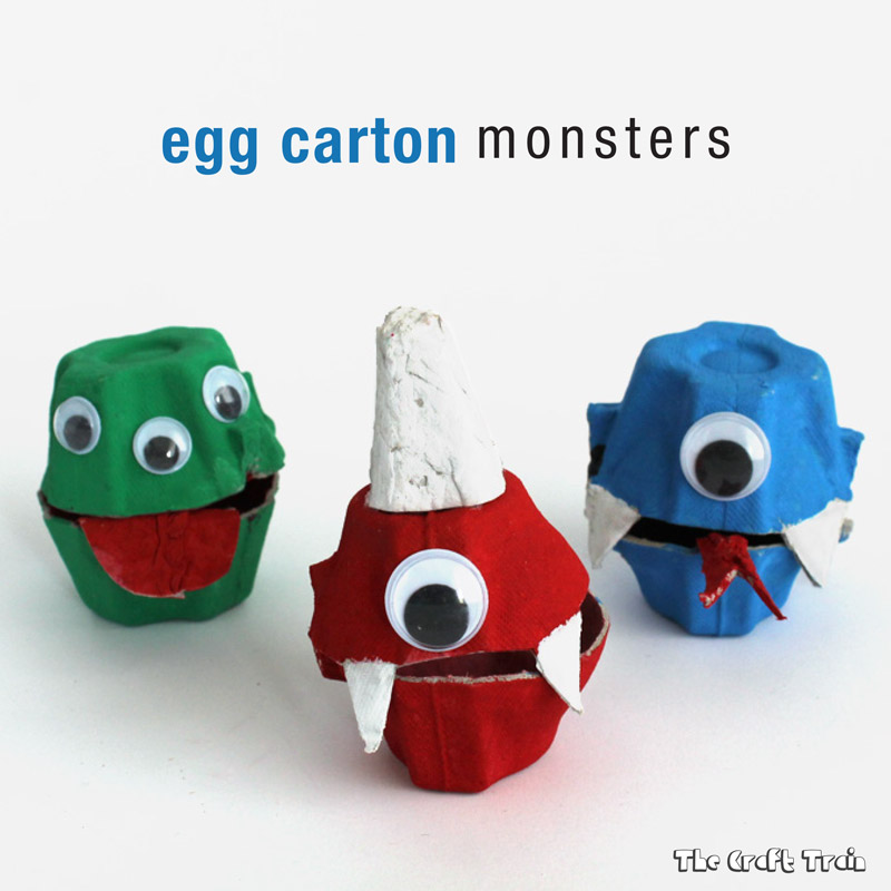 Make a cute egg carton monster treat holder