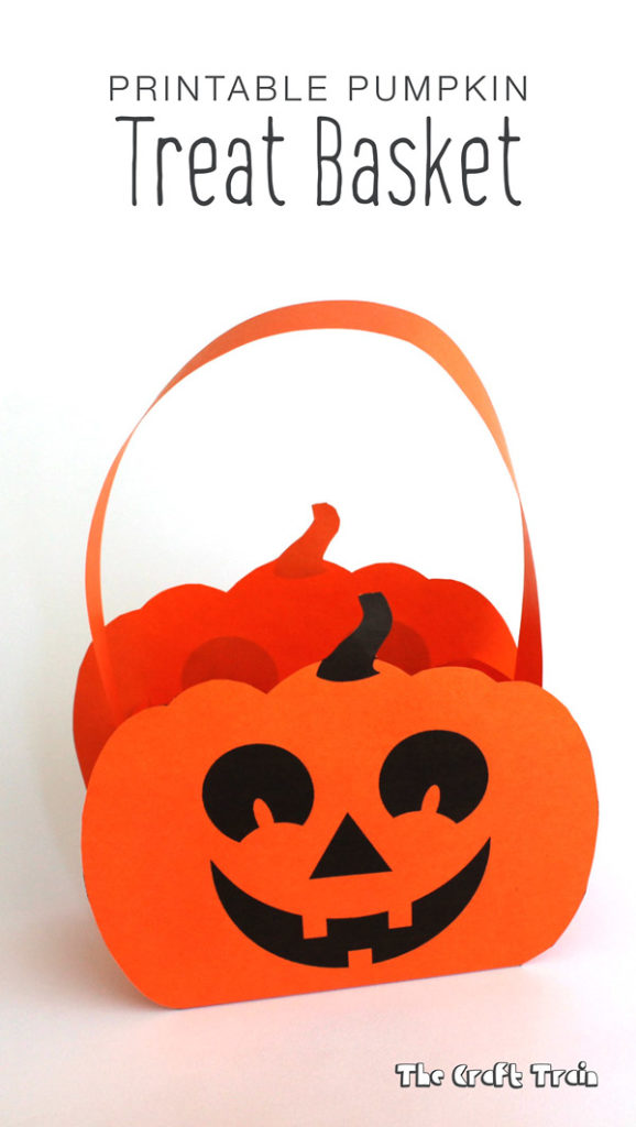 Pumpkin treat basket free printable