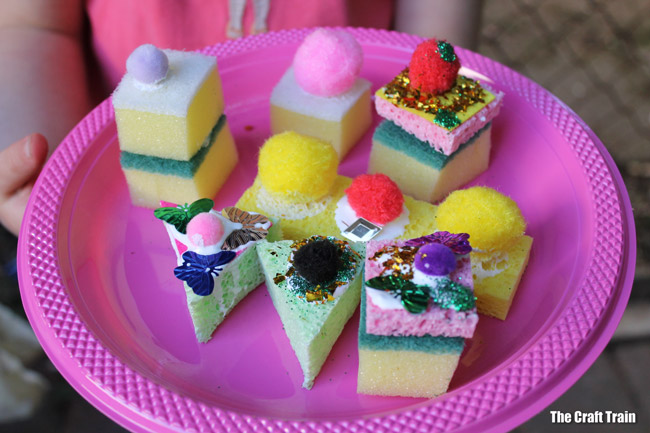 sponge cake craft for kids