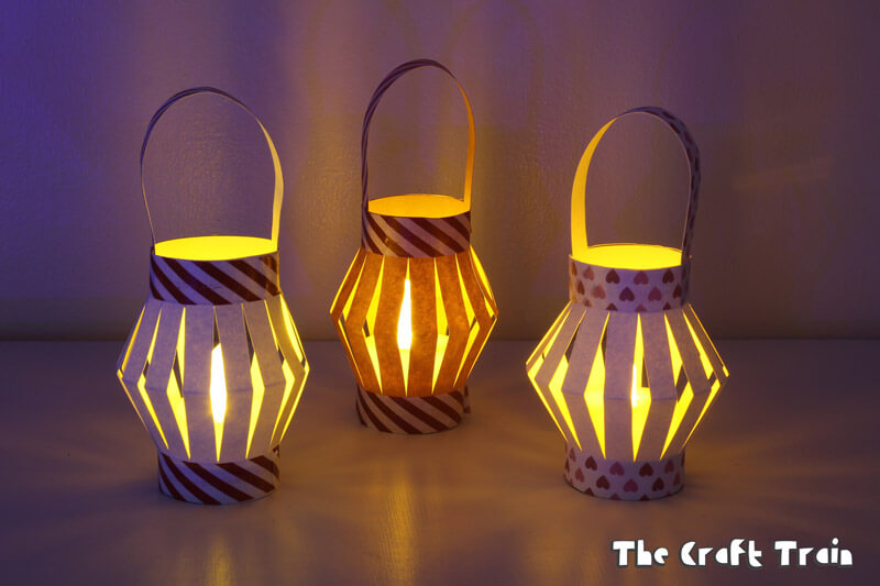 image regarding Lantern Template Printable known as Mini Paper Lanterns with printable template The Craft Coach