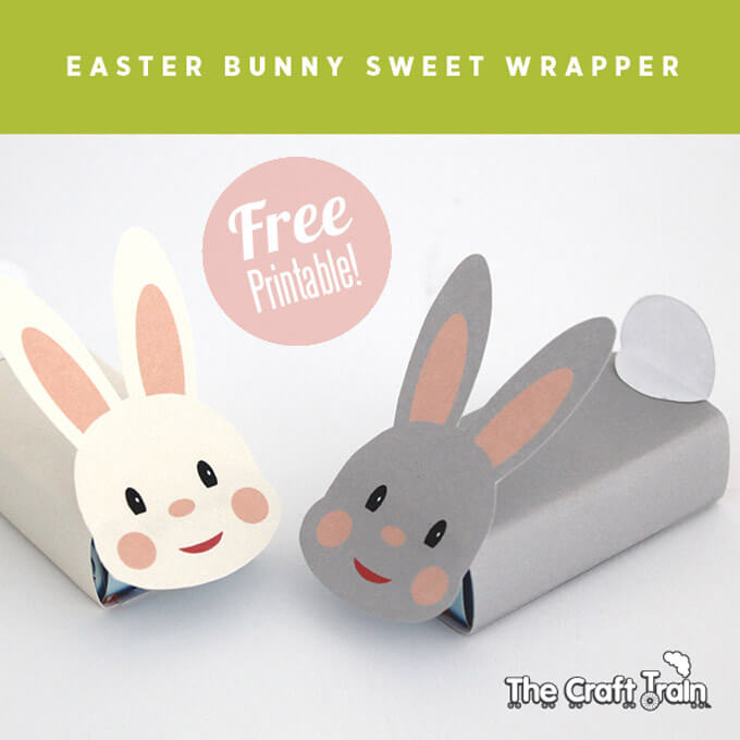 Printable Easter Bunny Gift Box Wrapper
