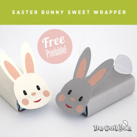 Free printable Easter bunny wraps by The Craft Train