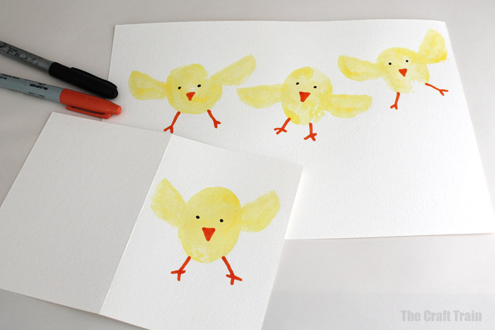 decorate the chicks with markers