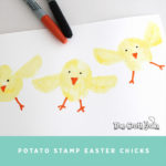 Potato stamp chicks