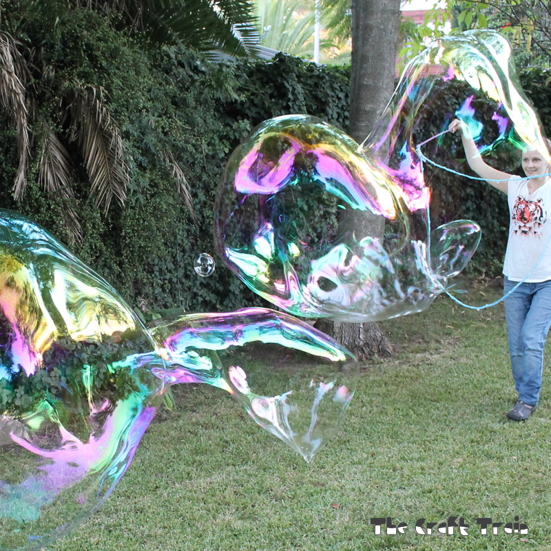 DIY Giant Bubble Wands + Recipe