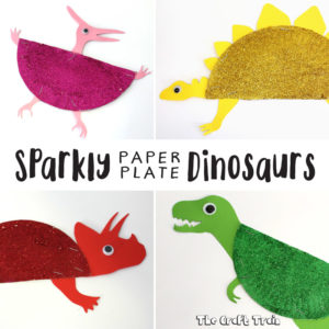 paper plate dinosaurs with printable template