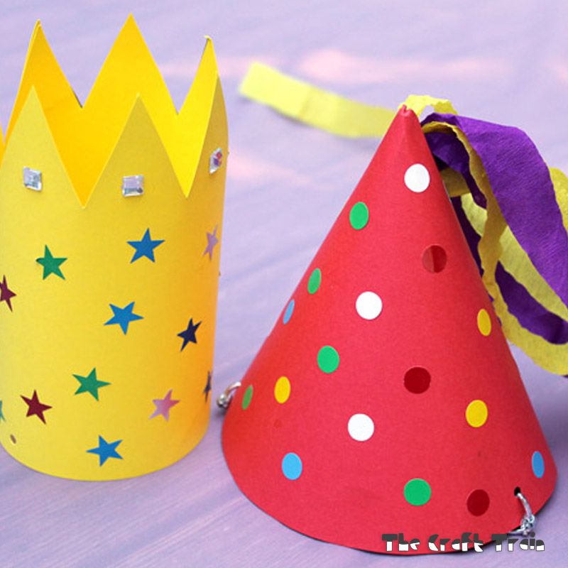 Make Your Own Party Hats  The Craft Train