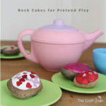 Rock cakes for pretend play