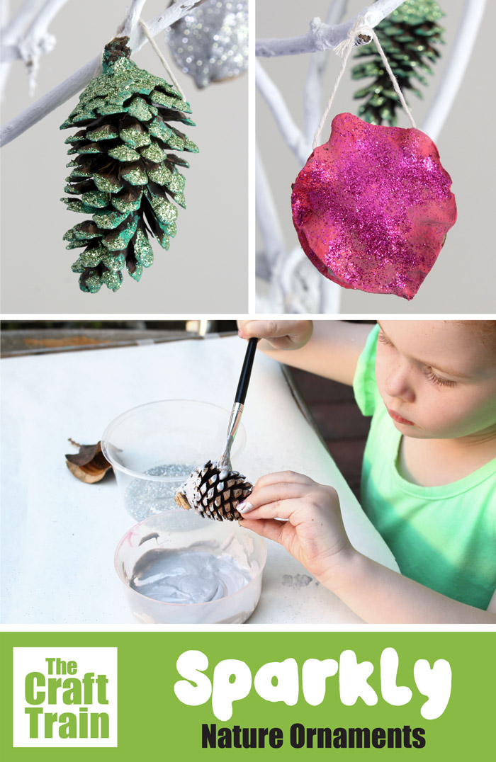 Christmas nature ornaments kids can make