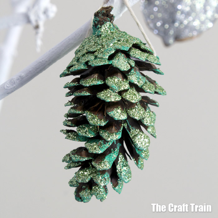 Sparkly nature ornaments