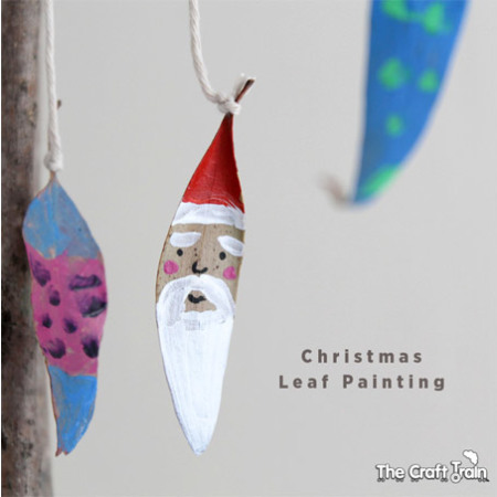 Christmas Leaf Painting
