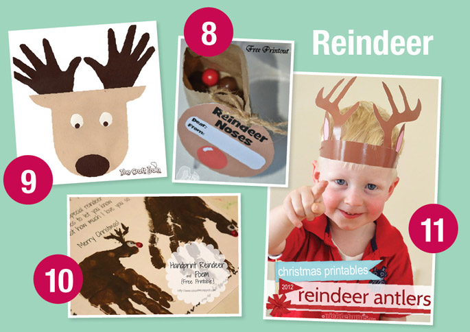 Reindeer noses gift tag with reindeer facts on the back by Mother ...