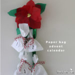 Paper bag advent calendar