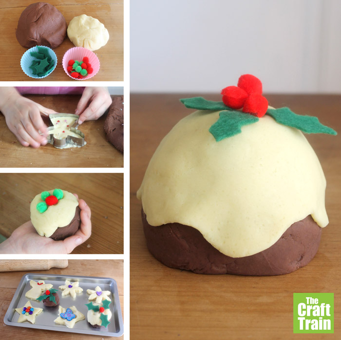 Christmas pudding playdough recipe