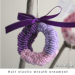 Hair elastic wreath ornament