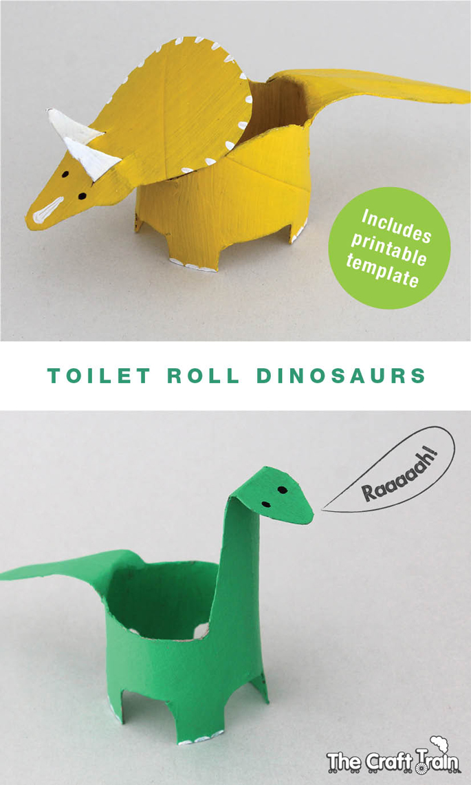 Toilet Roll Dinosaurs The Craft Train