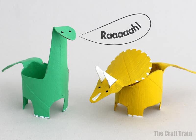 paper roll dinosaur craft for kids