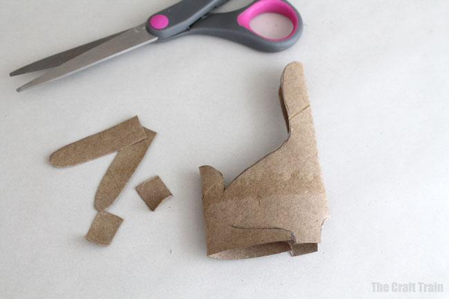 Paper roll bunnies step 2