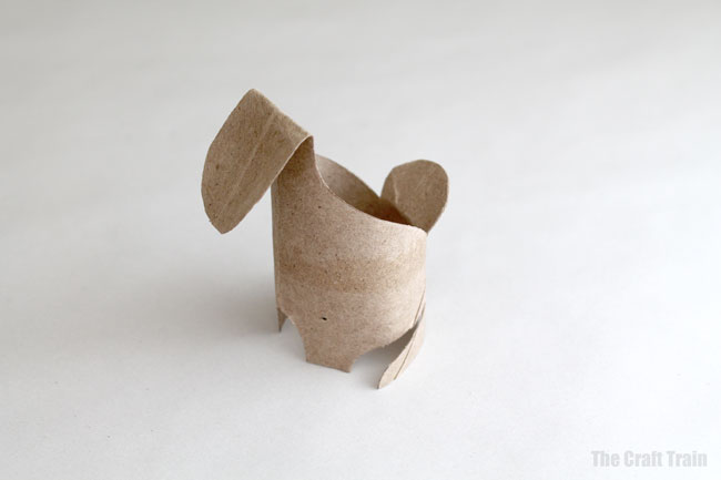 Paper roll bunnies step 3