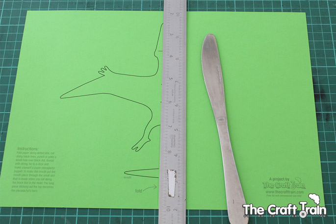 paper pterodactyl puppet the craft train