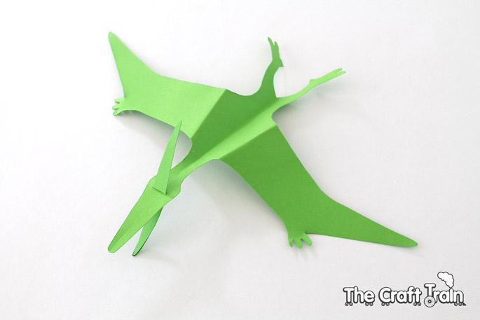 Paper Origami Pterodactyl