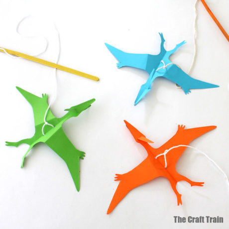 paper pterodactyl puppet craft for kids