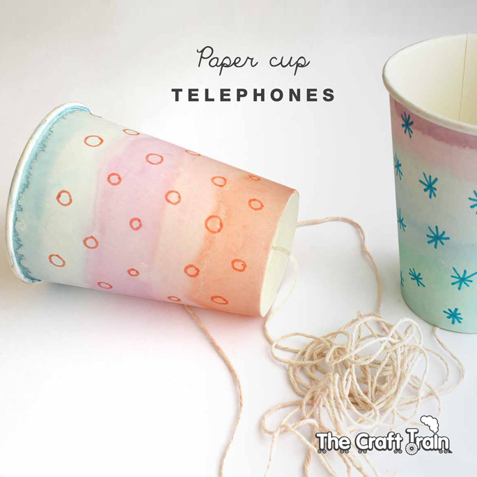 Paper cup telephones