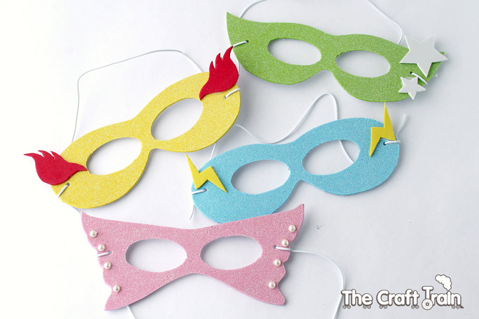 Simple Super Hero Masks With Printable Template | The Craft Train