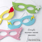create simple Super Hero masks with this free template