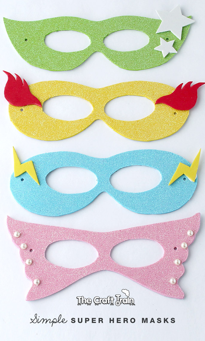 Simple super hero masks with printable template the for Children s mask templates