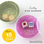 Stop the problem of runaway dice with this simple, sparkly, lucky dice shaker