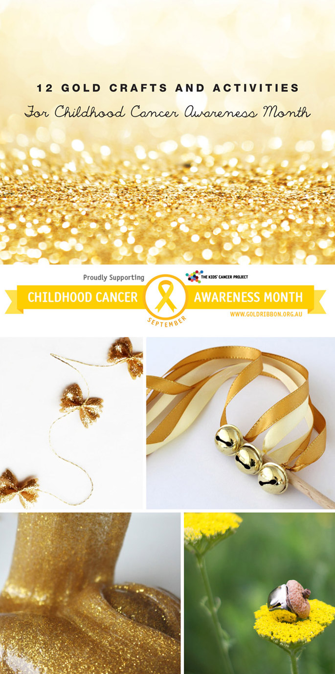 12 Gold Crafts and Activities for Childhood Cancer Awareness month September
