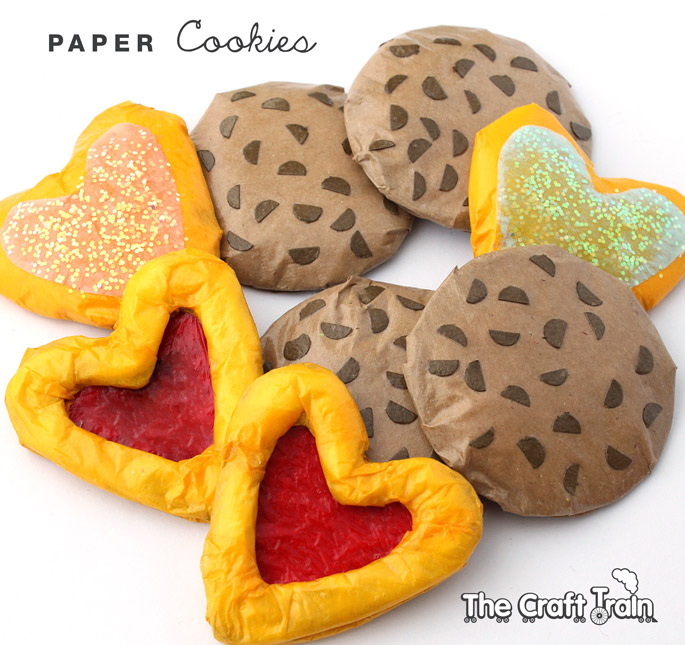 Make some paper cookies for the toy kitchen