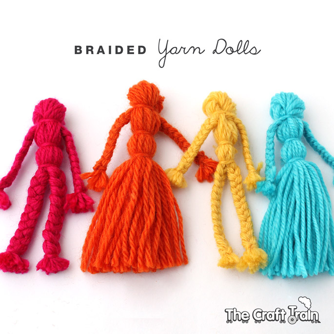 Braided Yarn Dolls The Craft Train