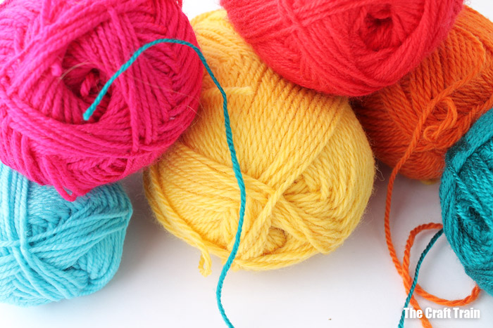 brightly coloured balls of yarn