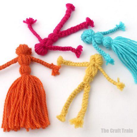 how to make braided yarn doll