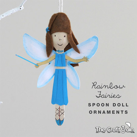 Rainbow Fairy Spoon Dolls