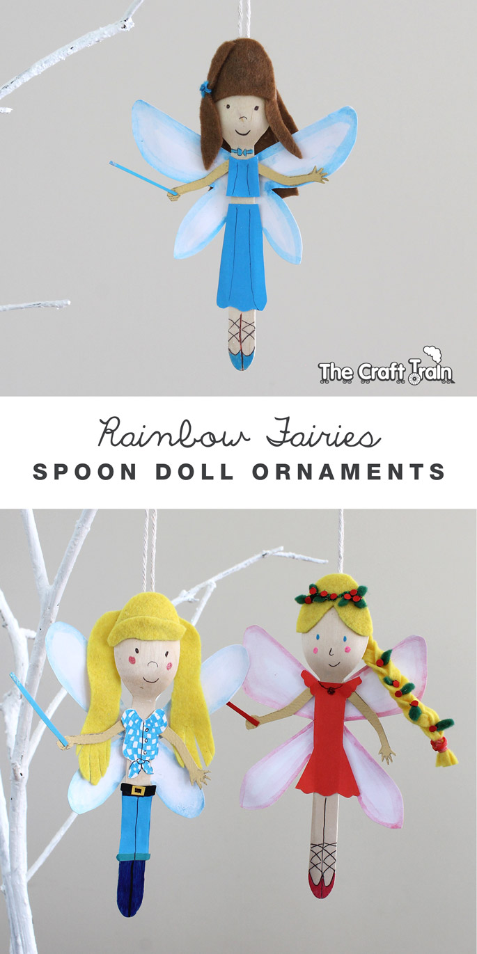 Rainbow Magic Fairies spoon doll ornaments