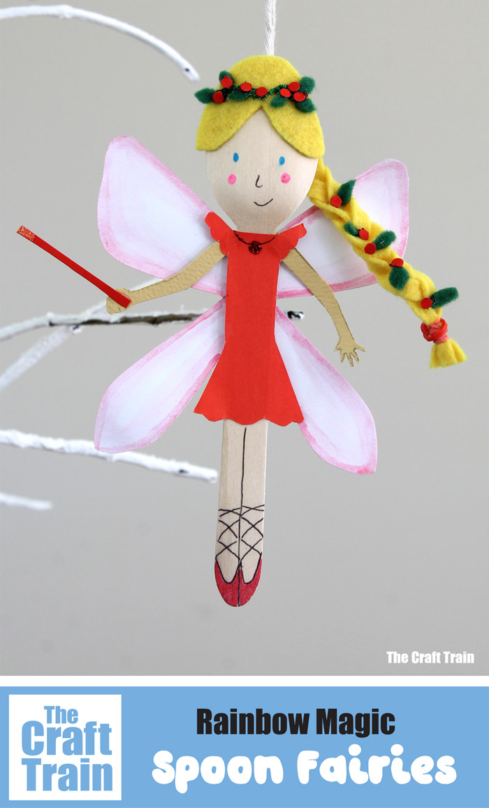 Rainbow Magic fairy ornaments – a fun and easy Christmas craft for kids