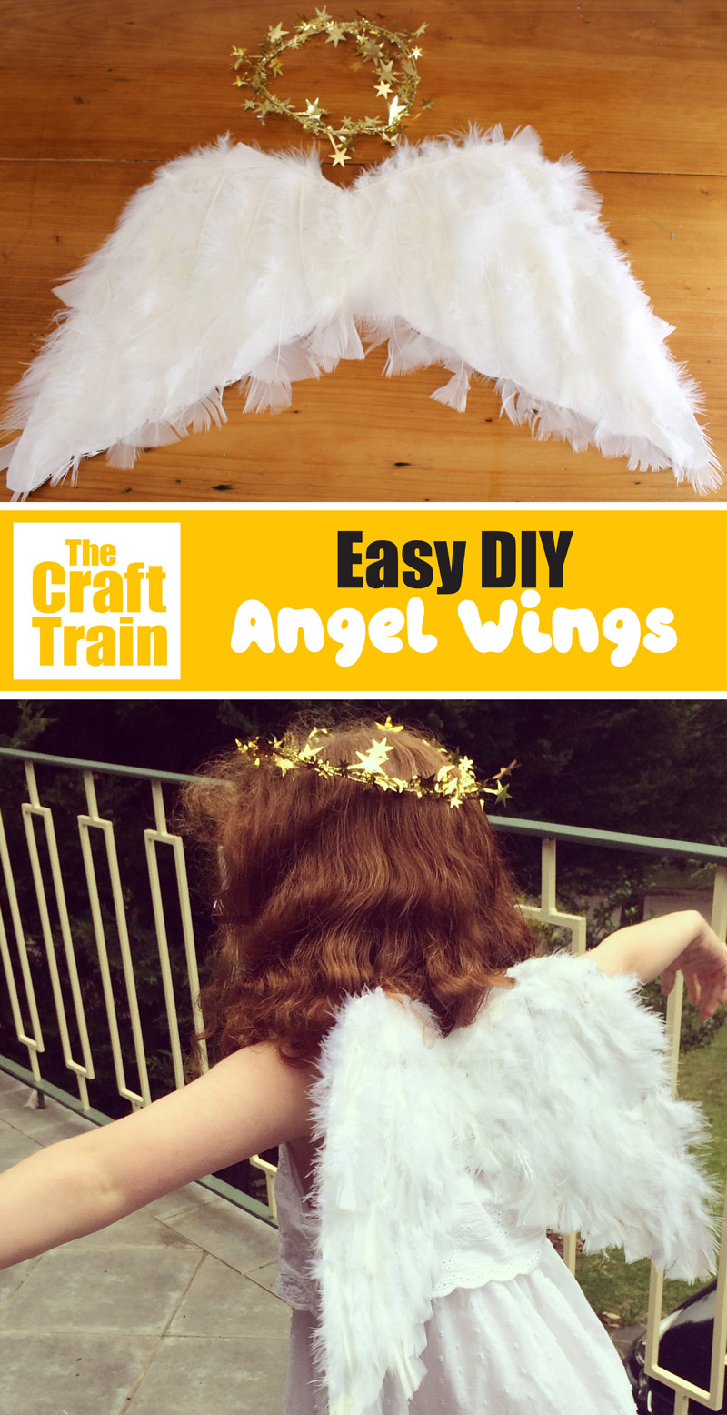 DIY angel wings tutorial for Christmas nativity costumes