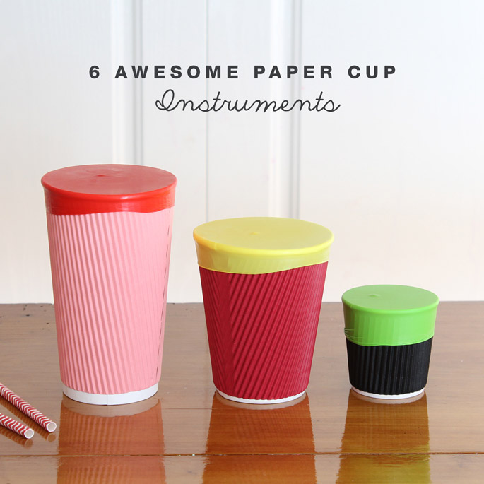 6 Awesome Paper Cup Instruments The Craft Train