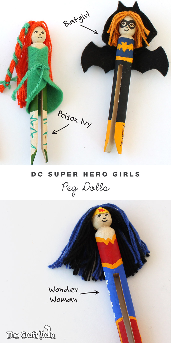DC Super Hero girls peg doll characters