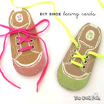 Easy DIY shoe lacing cards