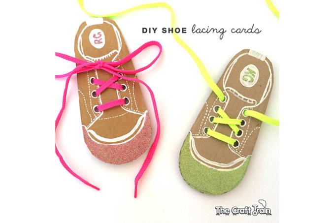 Easy DIY shoe lacing cards
