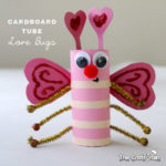 Cardboard tube love bugs for Valentines day