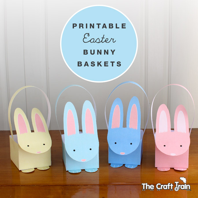 graphic about Easter Printable titled Printable Easter Bunny Baskets The Craft Educate